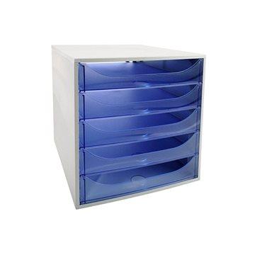 EXACOMPTA 5-zásuvkový, transparentní modrý (229610D)