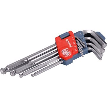 EXTOL PREMIUM L-klíče IMBUS, sada 9ks, 1,5-10mm, s kuličkou (6609)
