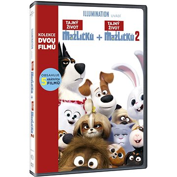Tajný život mazlíčků 1+2 (2DVD) - DVD (U00255)