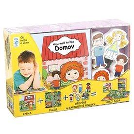 Domov Moje malá knížka BOX: Kniha + puzzle + figurky 6ks + hrací sada (978-80-7267-637-8)
