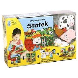 Statek Moje malá knížka BOX: Kniha + puzzle + zvířátka figurky 6ks + hrací sada (978-80-7267-640-8)