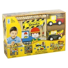 Stavba Moje malá knížka BOX: Kniha + puzzle + vozidla a figurky 4ks + hrací sada (978-80-7267-641-5)