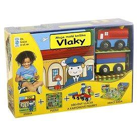 Vlaky Moje malá knížka BOX: Kniha + puzzle + vláček a figurky 4ks + hrací sada (978-80-7267-642-2)