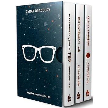 3x Ray Bradbury BOX: 451 stupňů Fahrenheita, Ilustrovaný muž, Marťanská kronika (978-80-259-1001-6)