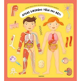 Atlas lidského těla pro děti: Lidské tělo v šesti velkých rozkládacích mapách (978-80-00-05198-7)