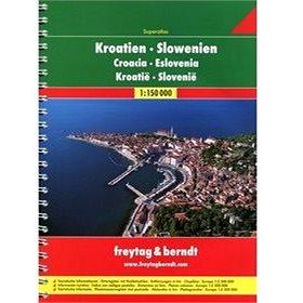 AA Chorvatsko-Slovinsko A4 atlas 1:150 000 (978-3-07-90423-9)