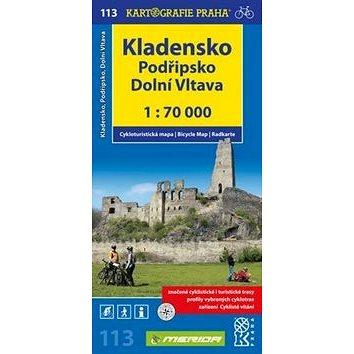 Kladensko, Podřipsko, Dolní Vltava 1: 70 0000: Cykloturistická mapa 113 (978-80-7393-237-4)