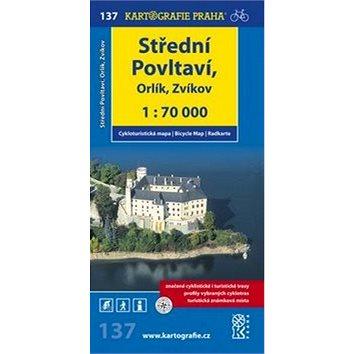 Střední Povltaví, Orlík, Zvíkov: cyklomapa 1:70 000 (978-80-7393-132-2)