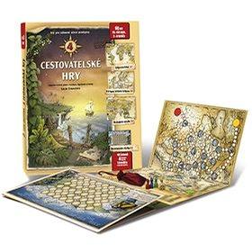 4 cestovatelské hry: Leporelo her s kostkou, figurkami a žetony, pro zábavné učení zeměpisu (978-80-905488-2-4)