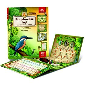 4 přírodovědné hry: Leporelo her s kostkou, figurkami a žetony, pro zábavné učení přírodopisu a angl (978-80-905488-3-1)