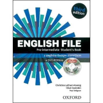 English File Pre-Intermediate Student´s Book + iTutor DVD-ROM Czech Edition: Third Edition (978-0-945988-1-1)