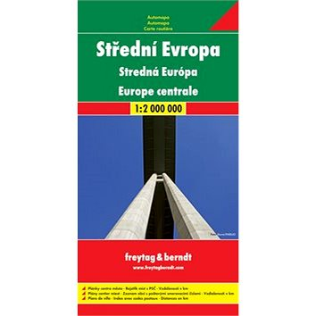 Automapa Střední Evropa 1: 2 000 000 (978-3-07-91263-0)