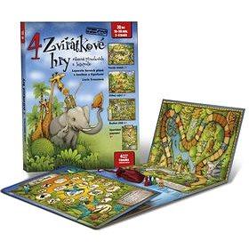 Kniha 4 zvířátkové hry: Leporelo s kostkou a figurkami (978-80-905488-4-8)