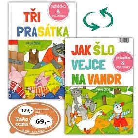 Tři prasátka /Jak šlo vejce na vandr: Pohádka + omalovánka (978-80-7292-308-3)