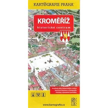Kroměříž Historické centrum: Kreslený plán (978-80-7393-304-3)