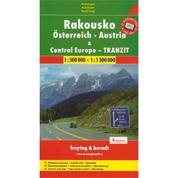 Automapa Rakousko a Střední Evropa tranzit 1:500 00/1:1 500 (978-80-7224-251-1)