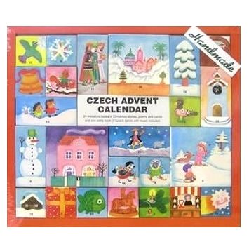 Czech Advent Calendar: 24 miniature books of Christmas stories, poems and carols and one extra book (978-80-87596-78-4)