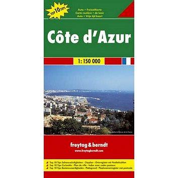 Automapa Côte ďAzur, Azurové pobřeží 1:150 000 (9783707901726)