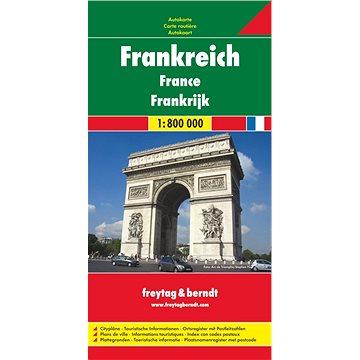 Automapa Francie 1:800 000 (9783707902792)