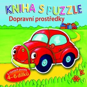 Kniha s puzzle Dopravní prostředky (978-80-256-1992-6)