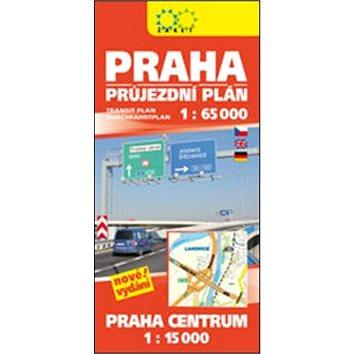 Praha průjezdní plán: 1:65 000 Praha centrum 1:15 000 (978-80-7233-443-8)