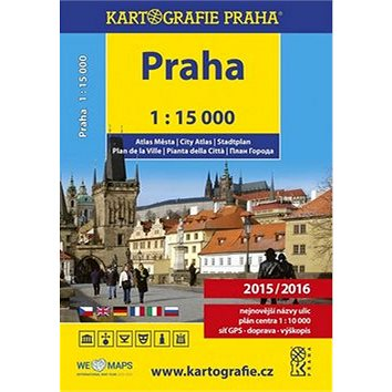 Praha 1:15 000 atlas města (978-80-7393-407-1)