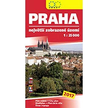 Praha největší zobrazené území 2017: 1:25 000 (978-80-7233-450-6)