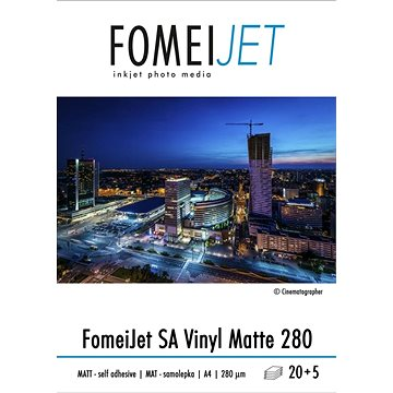 FOMEI Jet SA Vinyl Matte 280 A4 - balení 20ks + 5ks zdarma (EY5959)