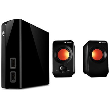 Seagate BackUp Plus Hub 4TB + 2x USB, černý + CANYON CNE-CSP202 (STEL4000200_CNE-CSP202)