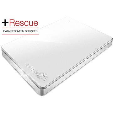 Seagate BackUp Plus Slim 1TB bílý + Rescue Plan (STDR1000411)