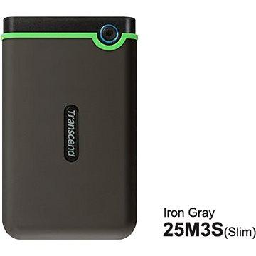 Transcend StoreJet 25M3S SLIM 500 GB šedo/zelený (TS500GSJ25M3S)