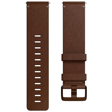 Fitbit Versa Accessory Band, Leather, Cognac, Large (FB166LBDBL)