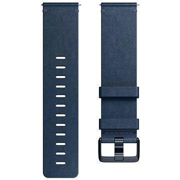 Fitbit Versa Accessory Band, Leather, Midnight Blue, Large (FB166LBNVL)