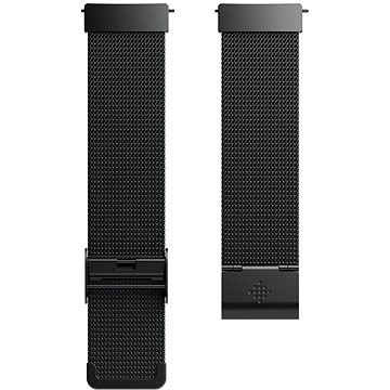 Fitbit Versa Accessory Band, Metal Mesh, Black Stainless Steel, Standard (FB166MMBK)