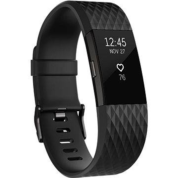 Fitness náramek Fitbit Charge 2 Large Black Gunmetal (FB407GMBKL-EU)