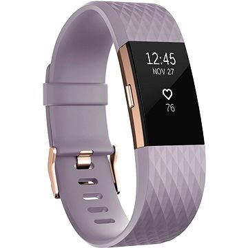 Fitness náramek Fitbit Charge 2 Large Lavender Rose Gold (FB407RGLVL-EU)