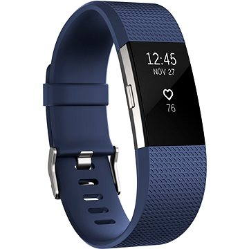 Fitness náramek Fitbit Charge 2 Large Blue Silver (FB407SBUL-EU)