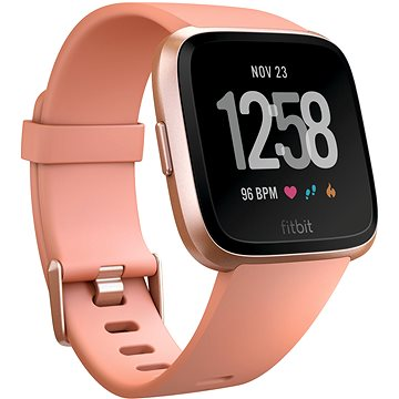 Chytré hodinky Fitbit Versa - Peach / Rose Gold Aluminum (FB505RGPK-EU)