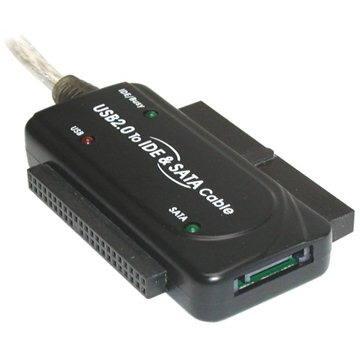 PremiumCord - konvertor USB 2.0 --> IDE 40/44 pinů a SATA, pro 2.5 i 3.5 HDD, AC adaptér (8592220001902)