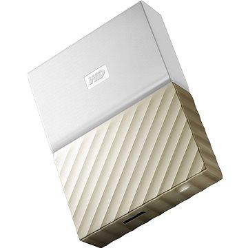 """WD 2.5"""" My Passport Ultra Metal 2TB bílý/zlatý slim (WDBTLG0020BGD-WESN)"""
