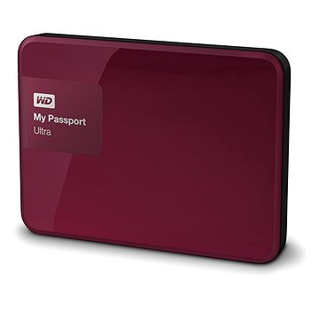 WD 2.5 My Passport Ultra 500GB Wild Berry, červený (WDBWWM5000ABY-EESN)