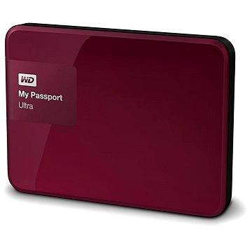 WD 2.5 My Passport Ultra 1TB Wild Berry, červený (WDBGPU0010BBY-EESN) + ZDARMA Grip WD Grip Pack 500GB/1TB Slate, tmavě modrý