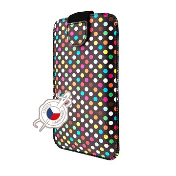 FIXED Soft Slim se zavíráním 5XL+ motiv Rainbow Dots (FIXSOS-RAD-5XL+)