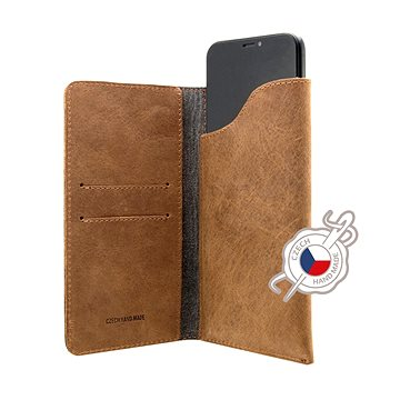 FIXED Pocket Book pro Apple iPhone 6 Plus/6S Plus/7 Plus/8 Plus/XS Max hnědé (FIXPOB-335-BRW)