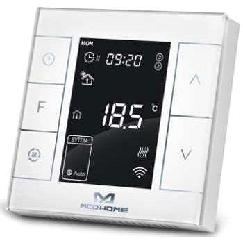 MCOHome Termostat pro vodní topení a kotle V2, Z-Wave Plus, bílý (MCO-MH7H-WH)