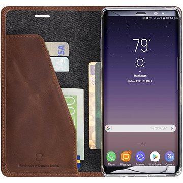 Krusell SUNNE 4 CARD Foliocase pro Samsung Galaxy Note 8, koňaková (61123)