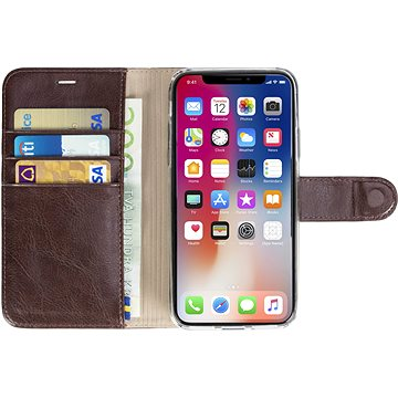 Krusell EKERÖ FolioWallet 2in1 pro Apple iPhone X, kávová (61077)