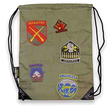 Call of Duty WWII - Division Patches Drawstring Bag (0747180371581)