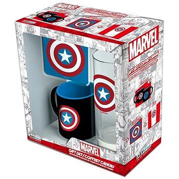 Captain America set - hrnek, podtácek, sklenice (3700789279501)