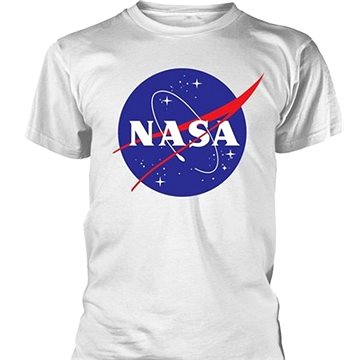 NASA Logo bílé - tričko L (5057736964767)